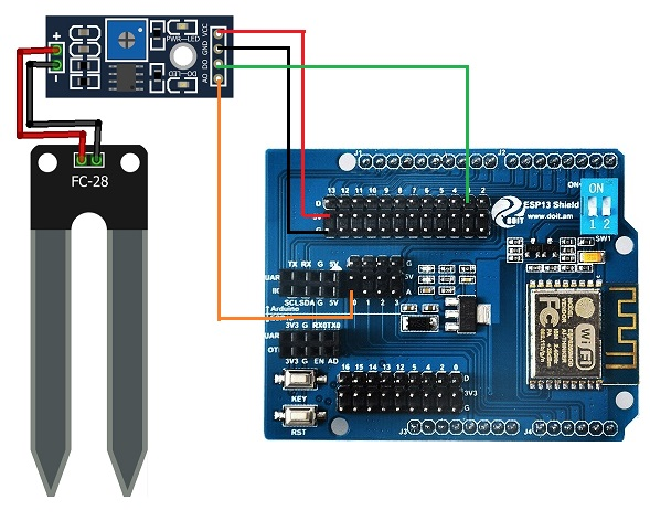 Use MQTT WiFi shield to send Soil Moisture data to remote devices