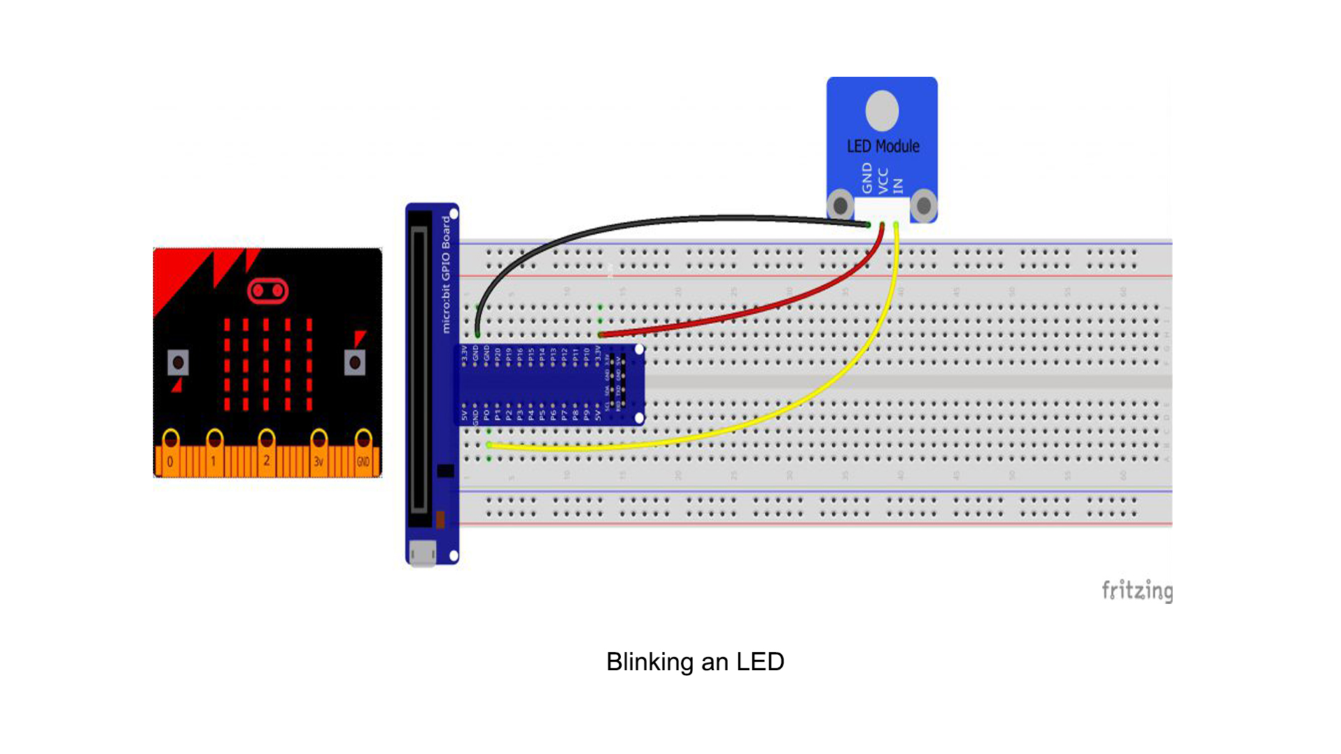 Micro bit lesson — Blinking an LED