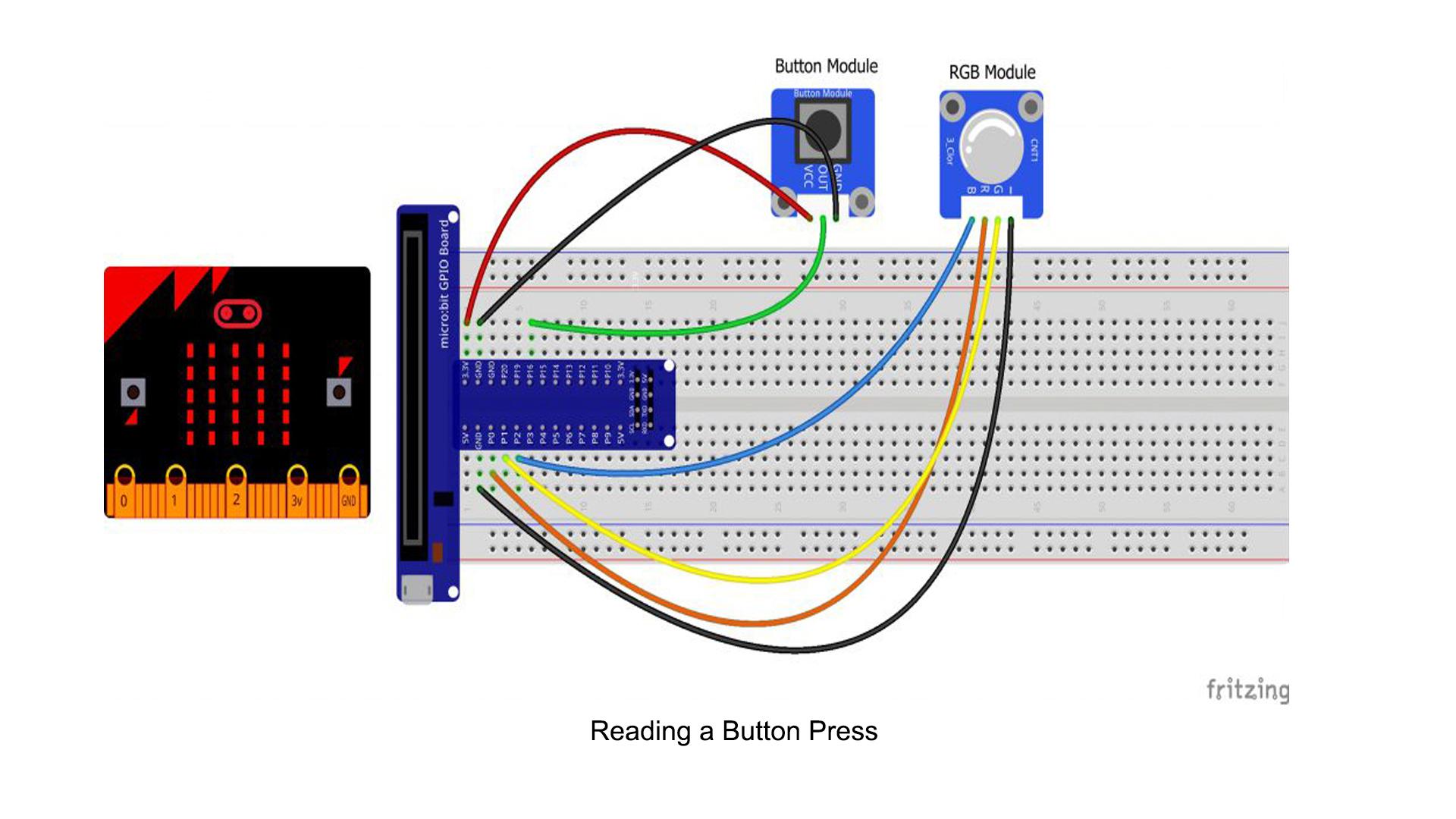Micro bit lesson — Reading a Button Press