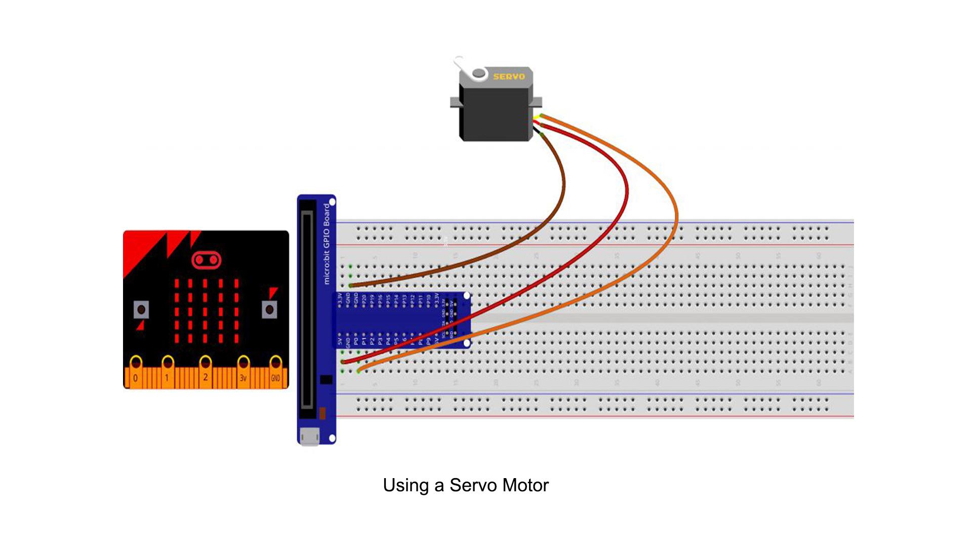 Micro bit lesson — Using a Servo Motor
