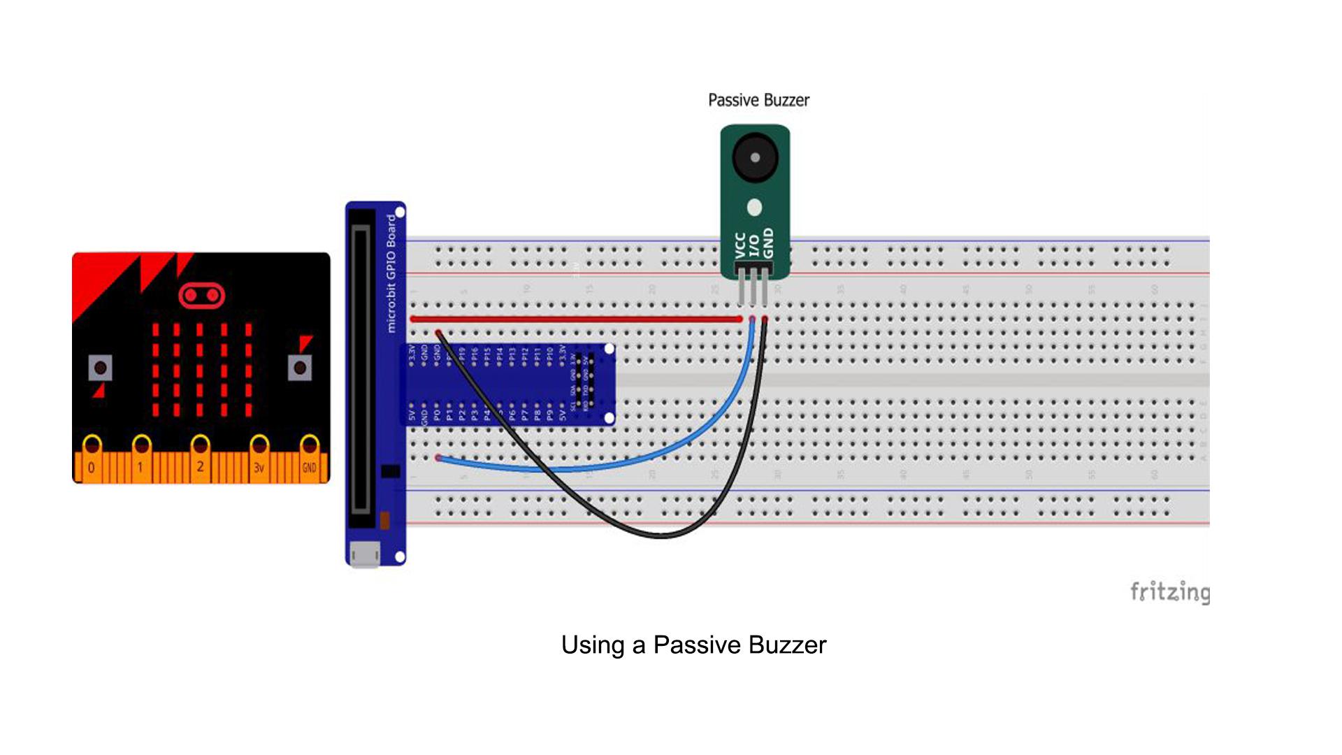 Micro bit lesson — Using a Passive Buzzer