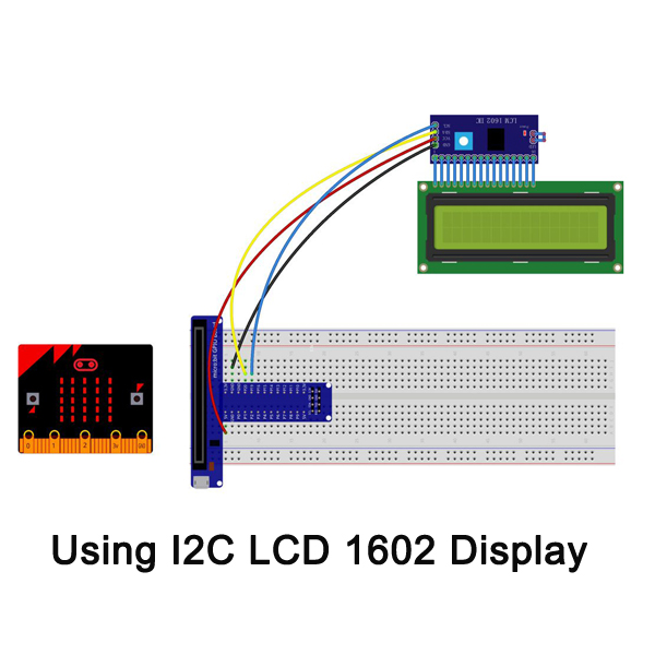 Micro bit lesson — Using the I2C LCD 1602 Display