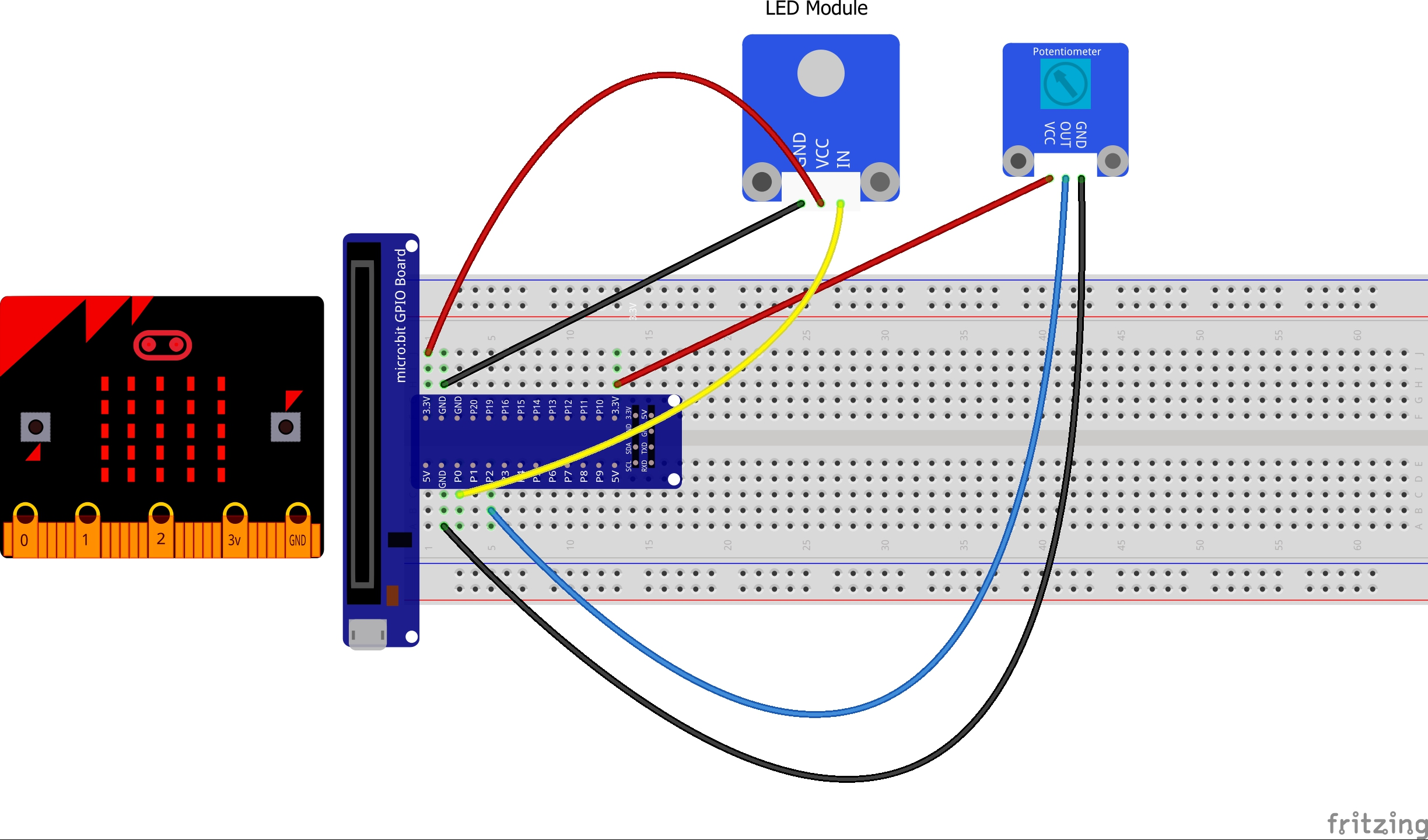 Micro Bit Lesson Reading A Potentiometer Led Module Wiring Diagram For The Experiment