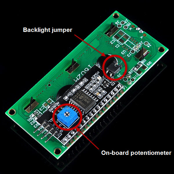 Micro bit lesson — Using the I2C LCD 1602 Display « osoyoo com
