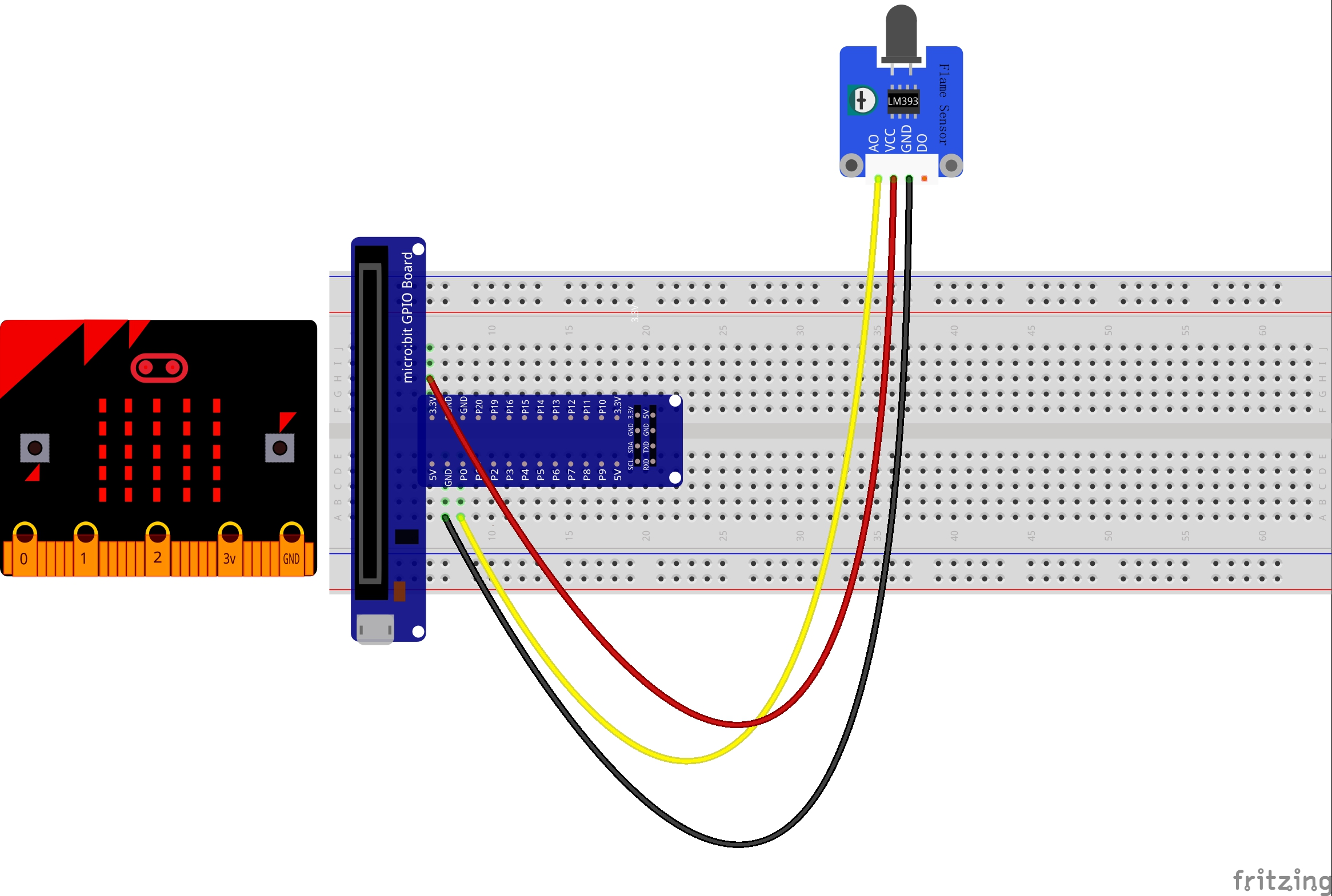 Super Micro Bit Lesson Using The Flame Sensor Osoyoo Com Wiring Database Ilarigelartorg