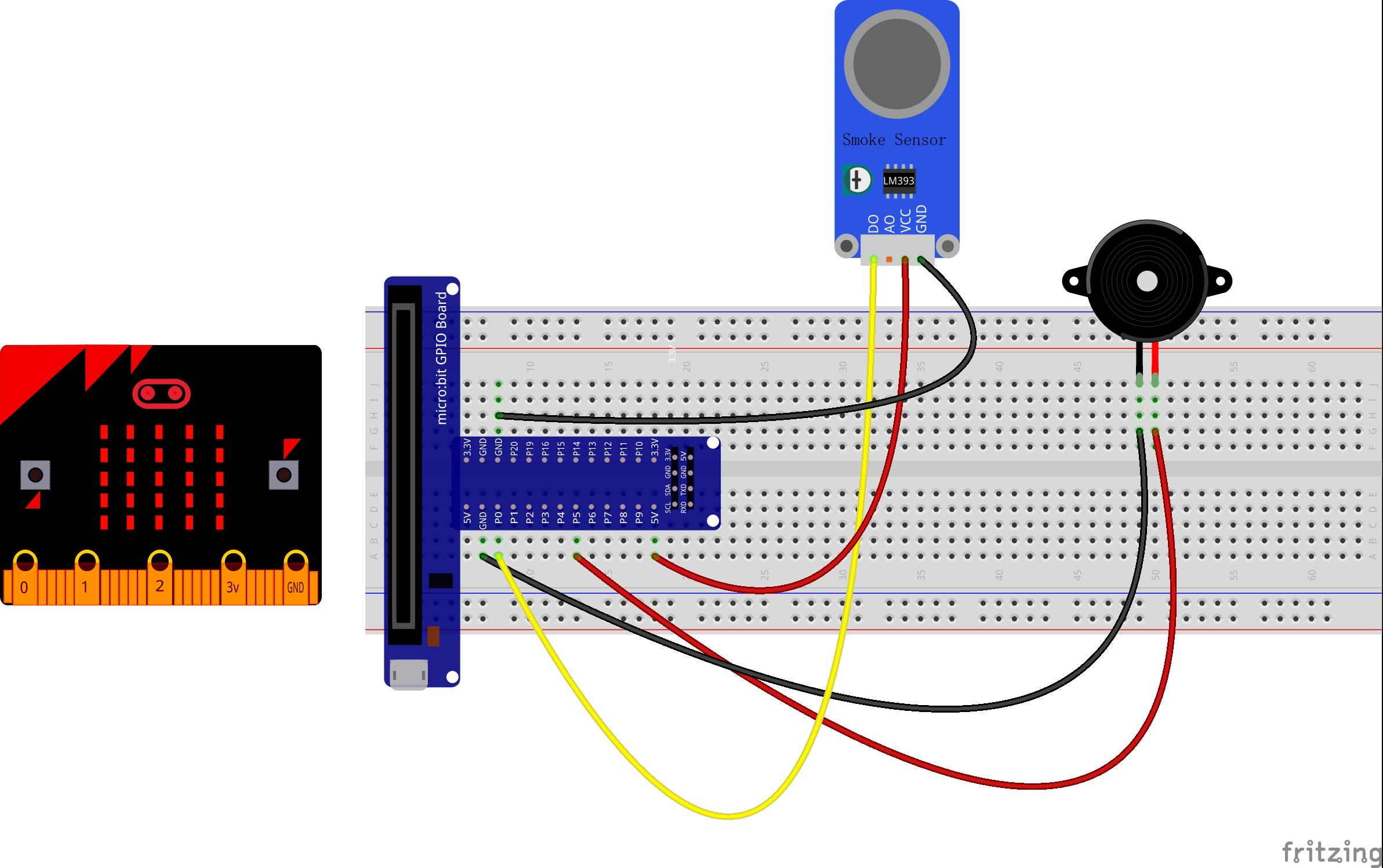 Micro bit lesson — Using the Smoke Sensor « osoyoo com