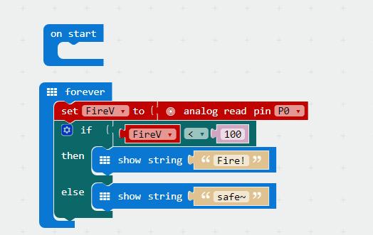 Micro bit lesson — Using the Flame Sensor « osoyoo com