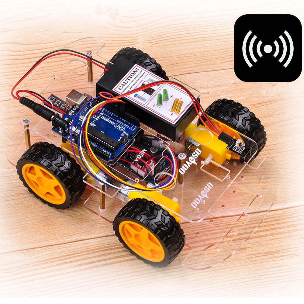 OSOYOO Robot car kit Lesson 2: IR Remote Control Robot Car