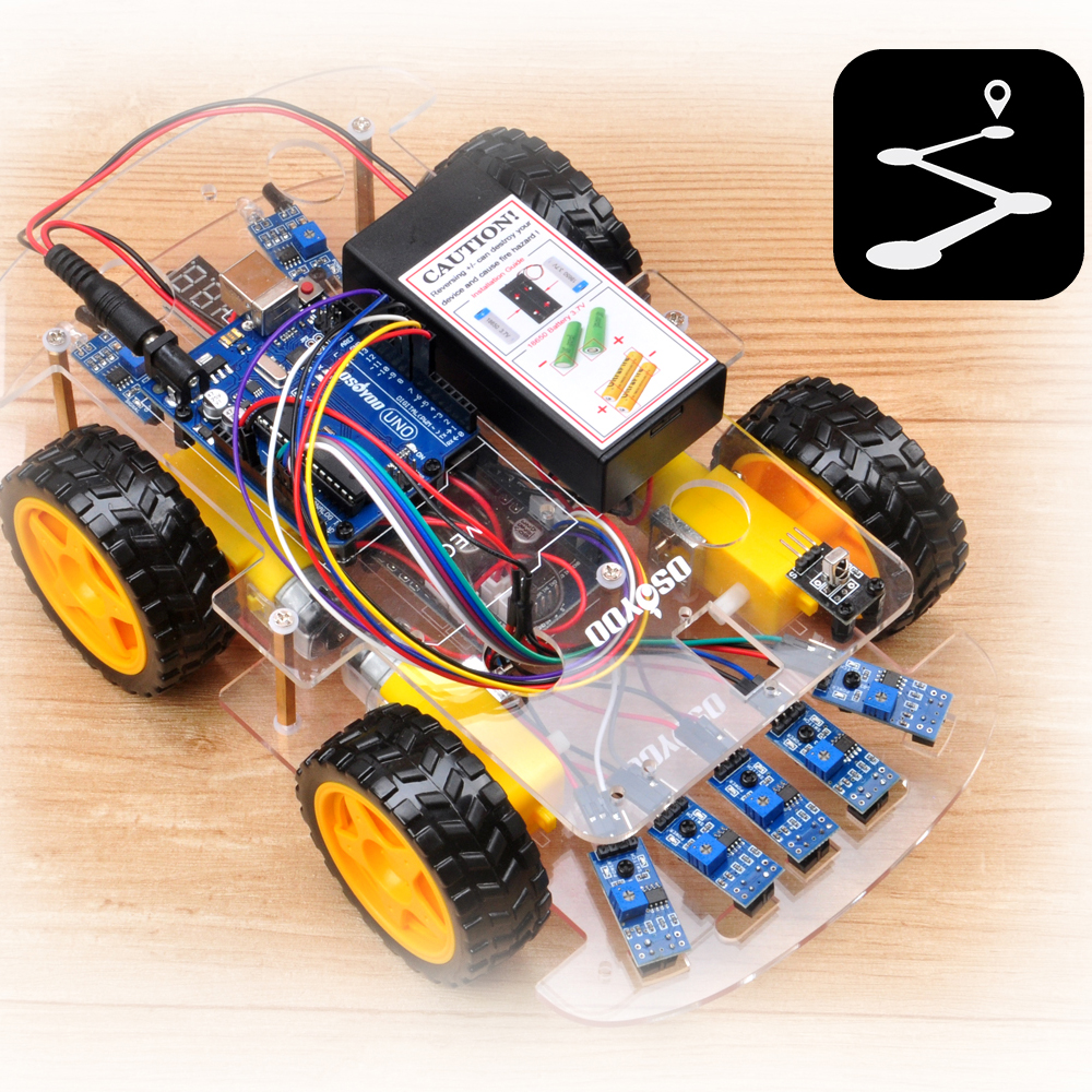 OSOYOO Robot car kit Lesson 4: Tracking Line Robot Car