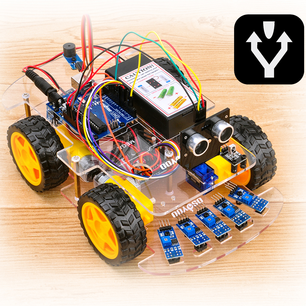 OSOYOO Robot car kit Lesson 5: Obstacle Avoidance Robot Car