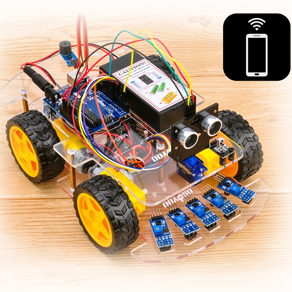Osoyoo V2 Robot Car Lesson 6B: Use Wifi UDP to control an IoT Robot Car