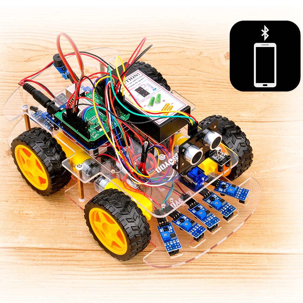 OSOYOOロボットカーキットレッスン7:ロボットカーをBluetoothでラジコン操作