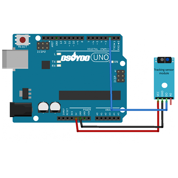 Graphical Programming Tutorial for Arduino – IR Track Sensor