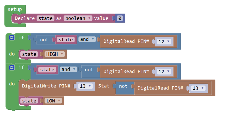 Graphical Programming Tutorial for Arduino – Use the Push