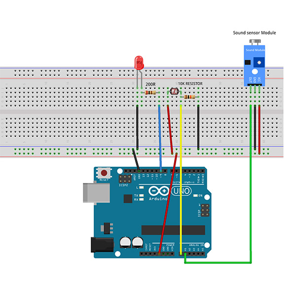 Graphical Programming Tutorial for Arduino – Acousto-optic Light Control